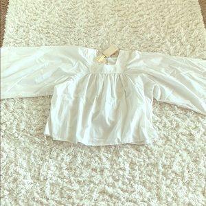 Doen Tops - NWT Doen White (Salt) Capo Blouse Top